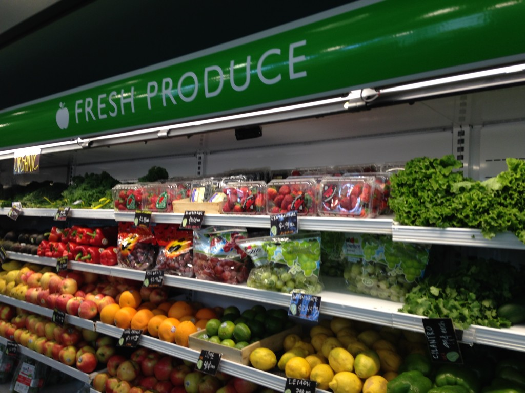 Produce section at Stockbox Grocers
